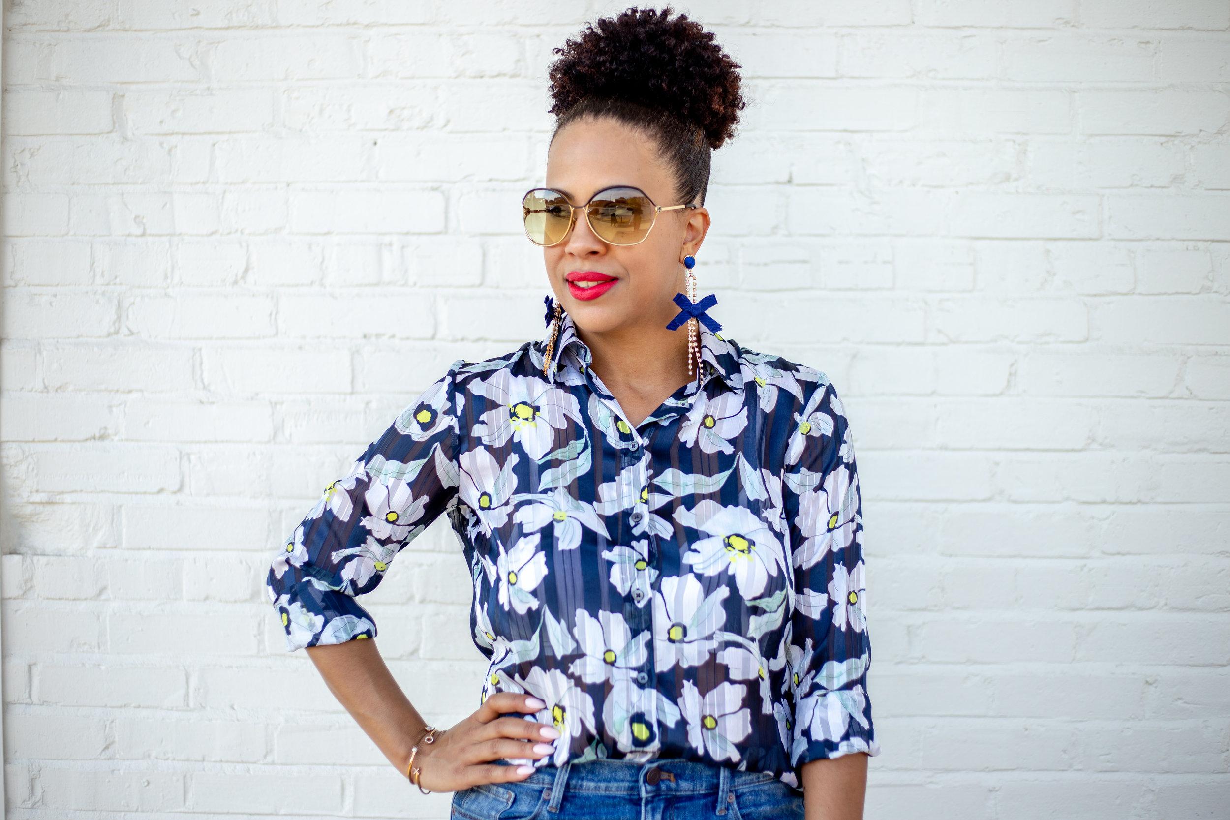 Banana Republic Womens Dillon Classic-Fit Sheer Floral Stripe Shirt.jpg