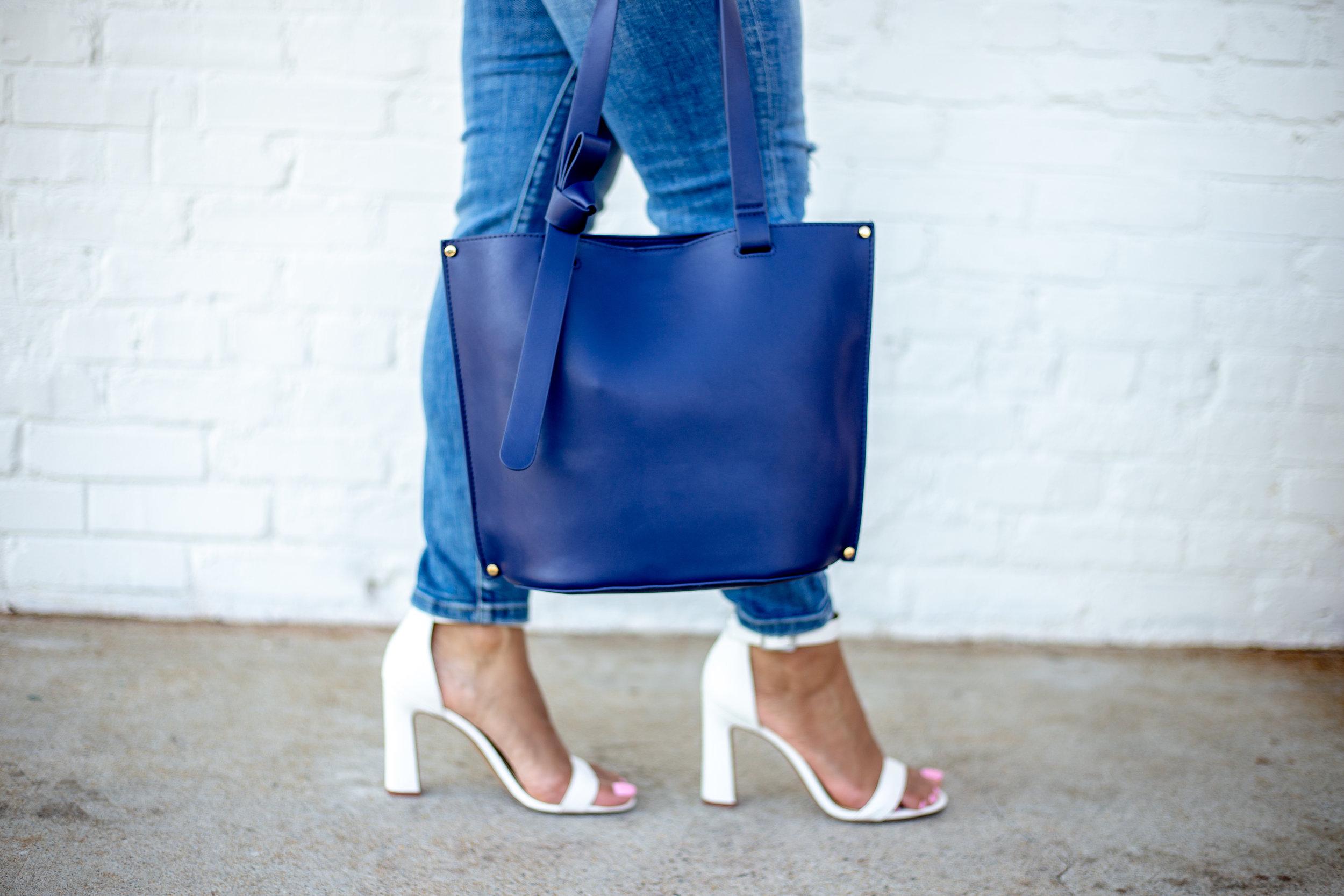 Knot Details Tote Handbag