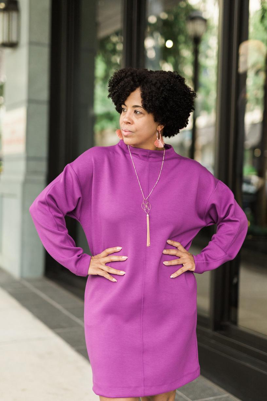 Mock Neck Scuba Sweatshirt Dress.jpg
