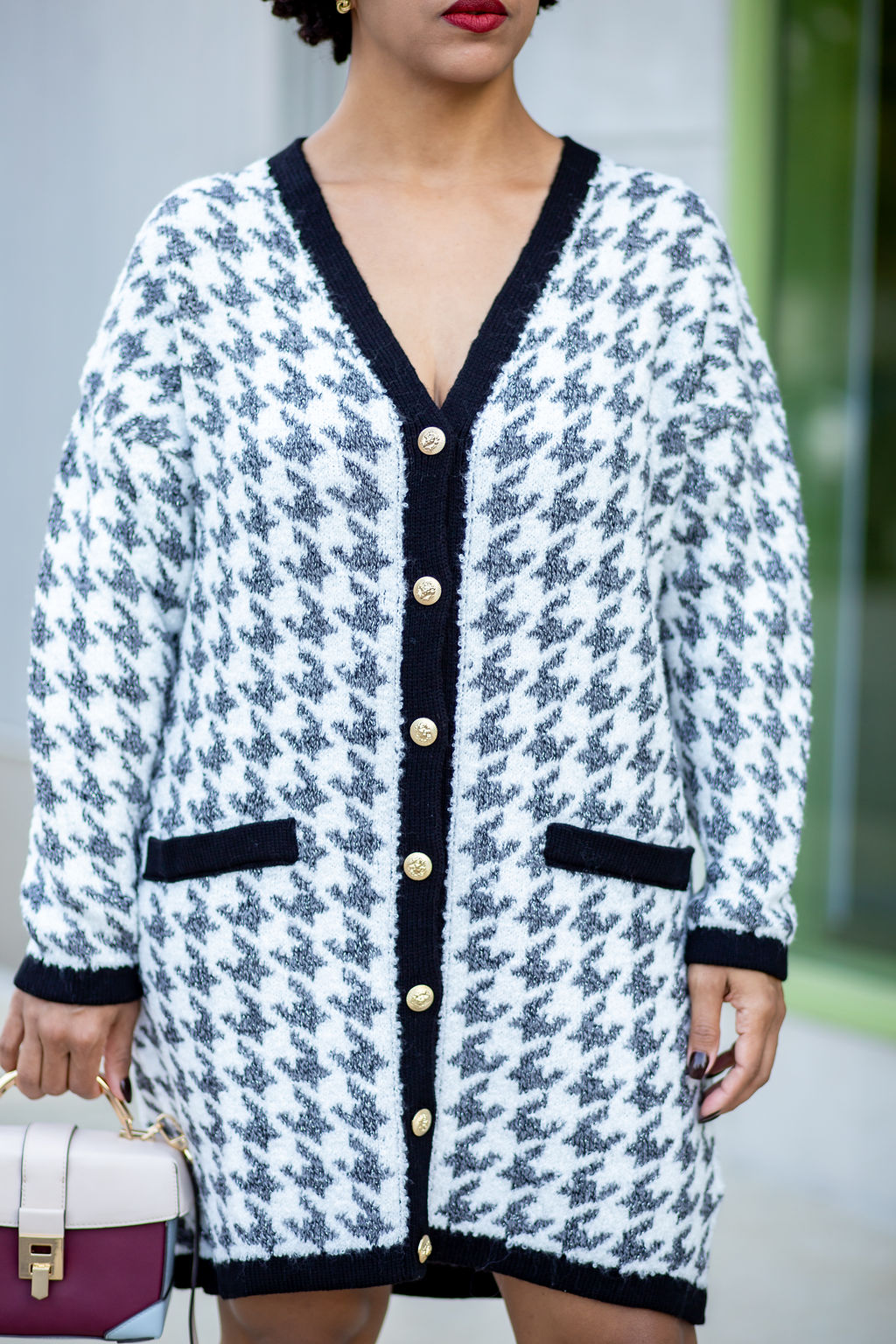 Houndstooth Cardigan ASOS w Buttons.jpg