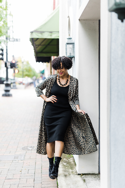 Leopard Print Duster Dress