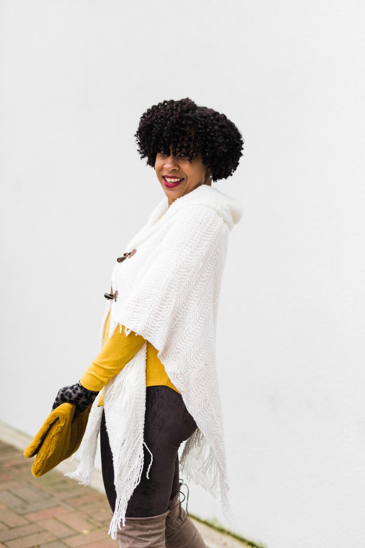 White Sweater Poncho with Clutch.jpg