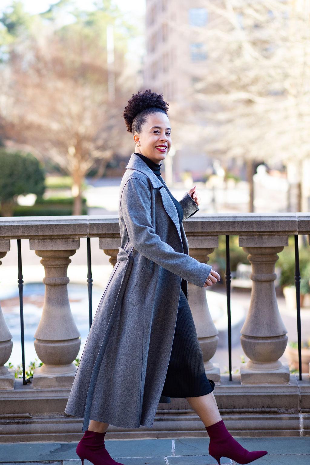 grey trench coat with black dress.jpg