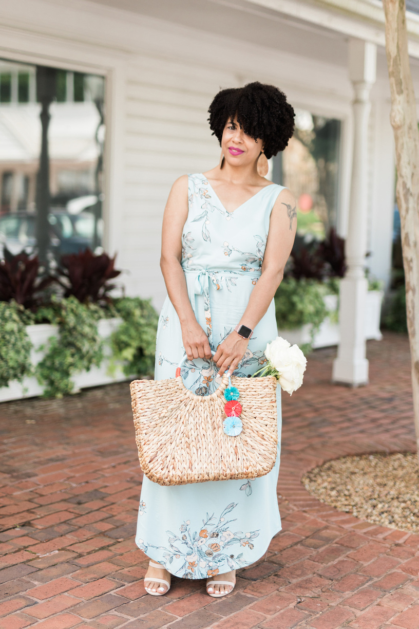 This  Raffia straw bag  is perfect for summer style.