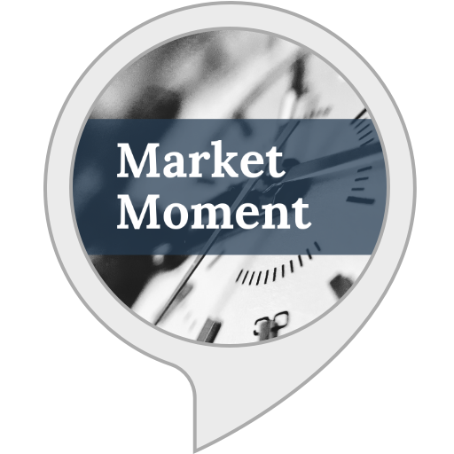 "Click to enable Market Moment on Alexa, then say, ""Alexa, Flash Briefing"""