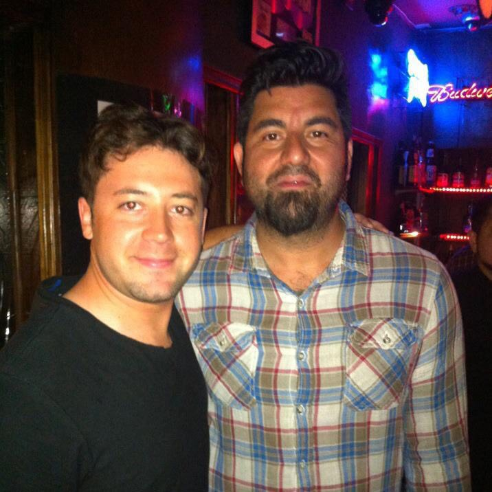 "Ben with Chino Moreno, Deftones singer. ""We all had the same music manager for a bit. Alice in Chains and Deftones are still with them but I'm a mic guy now."" - Ben Thompkins"