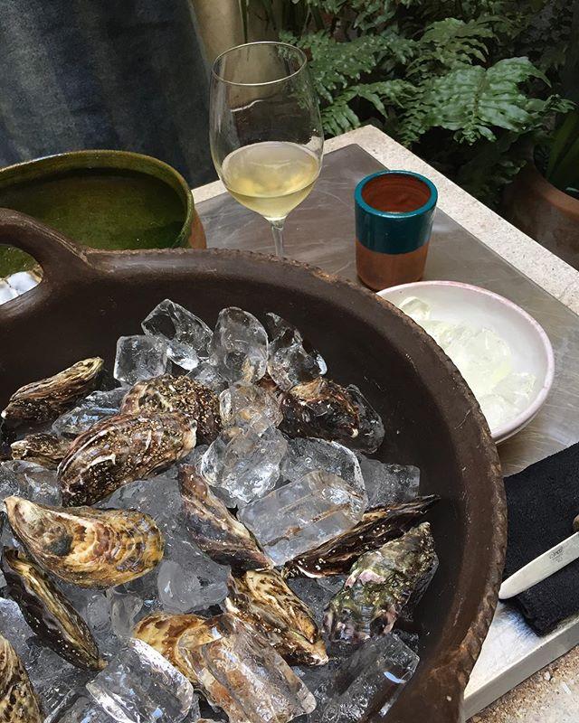 Sábado de ostiones y espumoso!! Gracias @dg_jamat por los productos marinos más bonitos. #quebonitoeslobonito #masalaymaiz