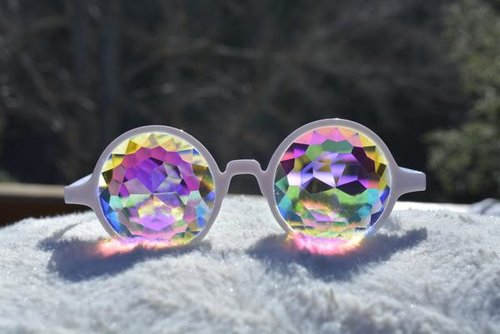 White Kaleidoscope Glasses