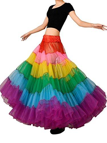 Rainbow Tutu Petticoat Skirt