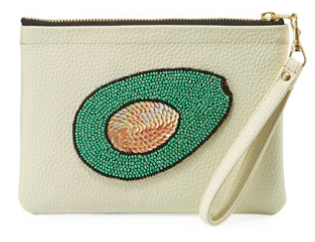 Cream Avocado Clutch