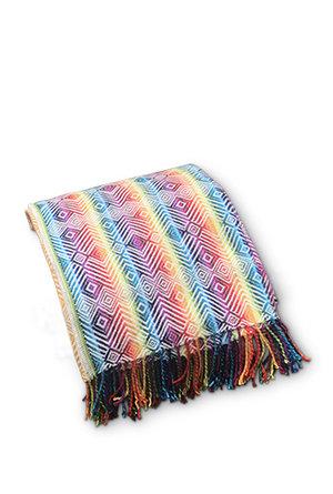 Rainbow Alpaca Blanket
