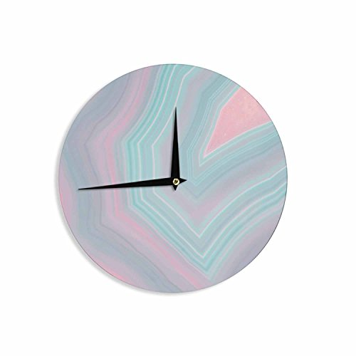 Pink Blue Wall Clock