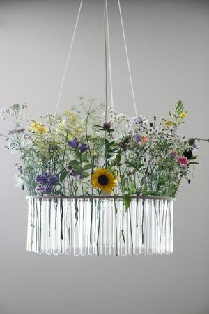 Test Tube Flower Chandelier