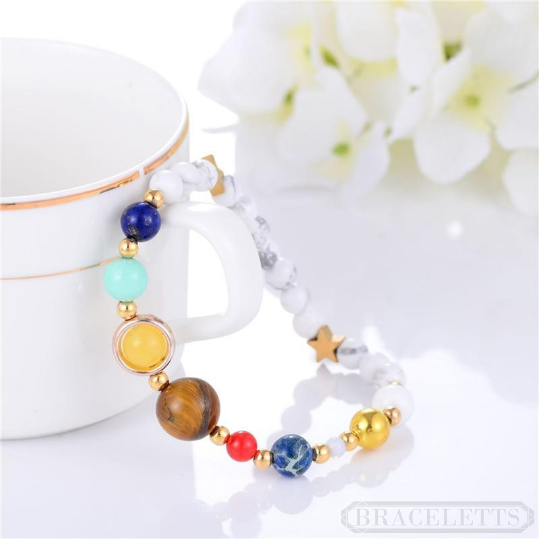 White Marble Galaxy Bracelet