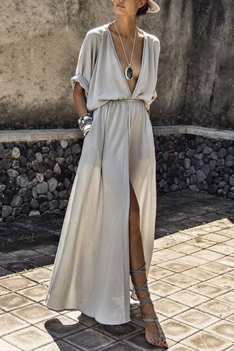 Elastic Maxi Dress