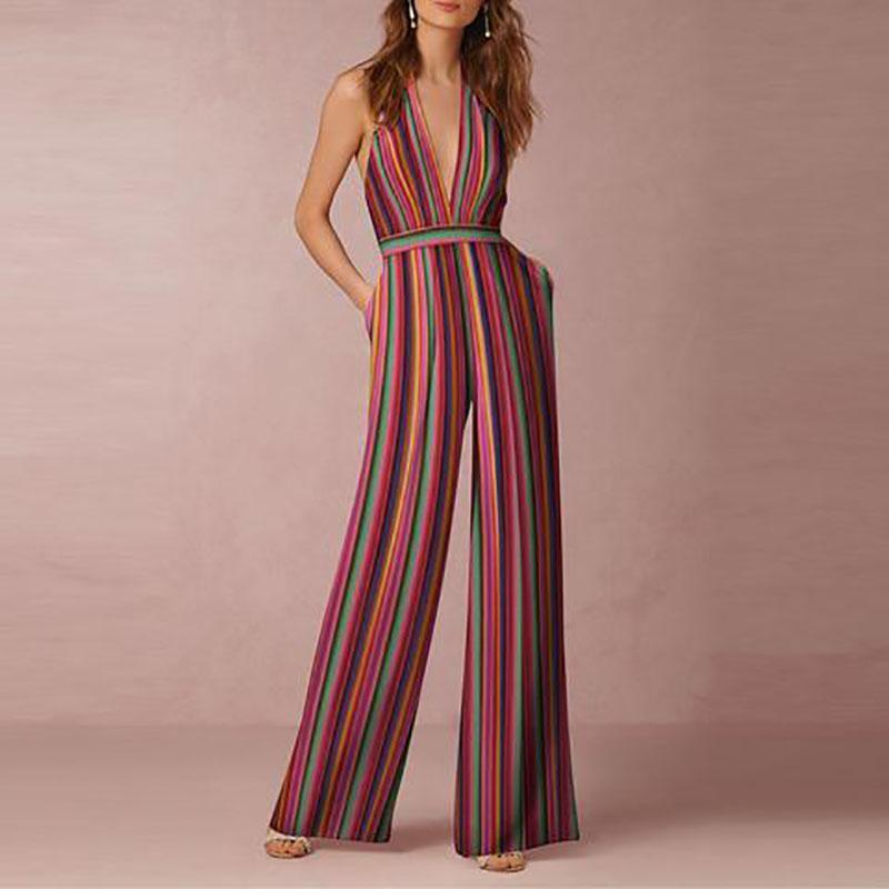 Halter Rainbow Maxi Dress
