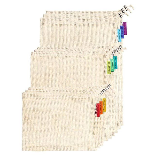 PERFECT PRODUCE BAGS... organic, color-coded, 3 sizes... all the good stuff. LOVE mine. ⁠ ***⁠ TheSuggested.com/kitchen⁠ Grid Location: C-3⁠ (only works on a computer)⁠ ***⁠ #organic #organicliving #producebags #rainbowbags #produce ⁠ ⁠