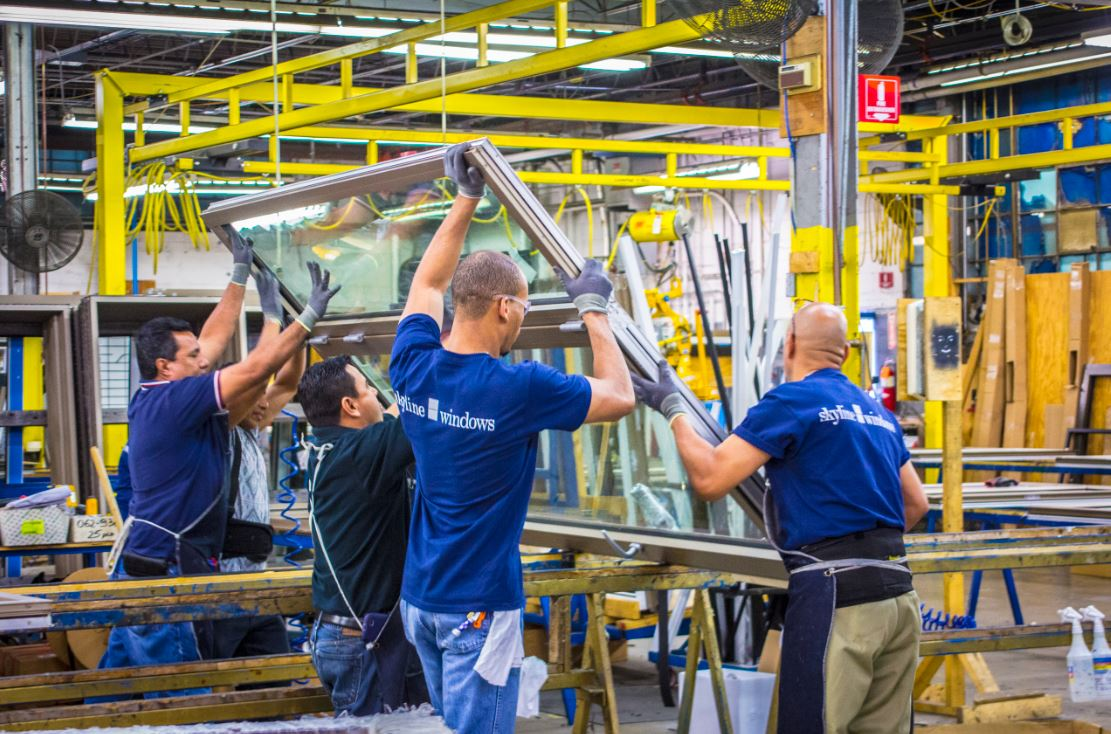 Manufacturing - Every Skyline window is handcrafted by professionals who have developed an expertise in their area. Our windows are built in assembly line fashion by utilizing state-of-the-art equipment and technology to meet the specifications of each project. We have two production facilities equipped with over 100,000 square feet of manufacturing space.