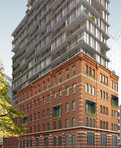 Follow Yimby's Tour of 100 Vandam - April 29, 2019Follow New York Yimby's tour of 100 Vandam Street in Hudson Square which will hold 70 residential units and 2,500 square feet of commercial space. Skyline Windows will be providing Series 500-4 Dual Action windows for the building's new addition. Click the photo for more details.{ Via newyorkyimby.com }{ Rendering by COOKFOX Architects }