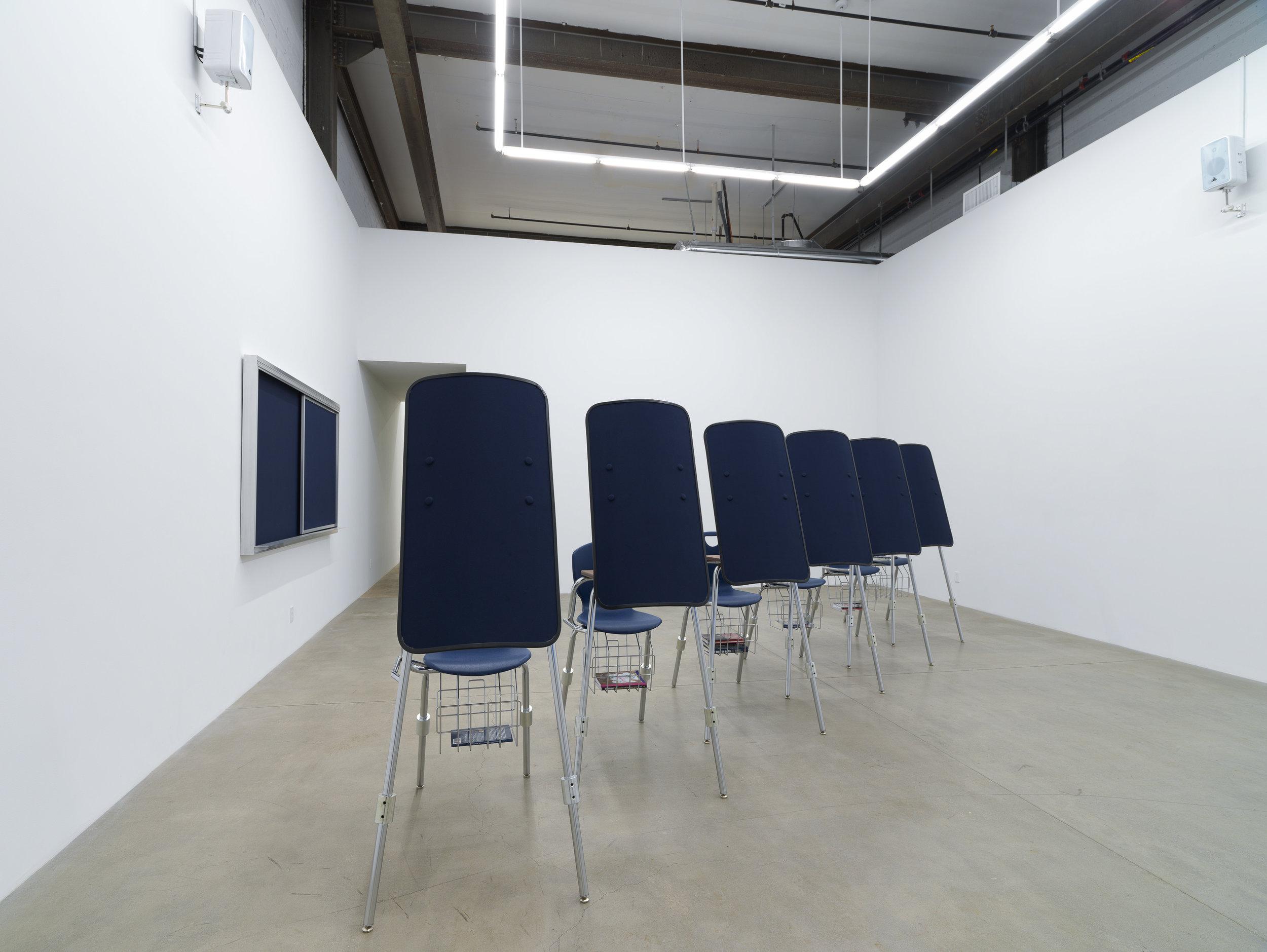 I'm Blue (If I Was █████ I Would Die) (installation view, Koenig & Clinton, Brooklyn), 2019