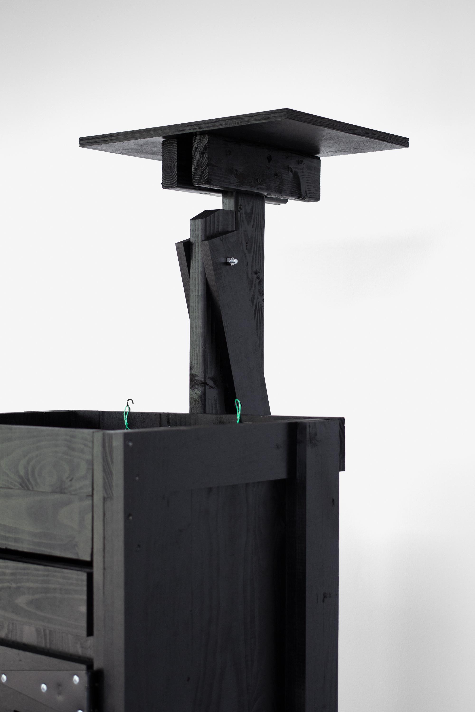 Data Server Rack,  2019 Wood, hardware, paint, hay bailing twine (University of Iowa, Stanley Museum of Art).