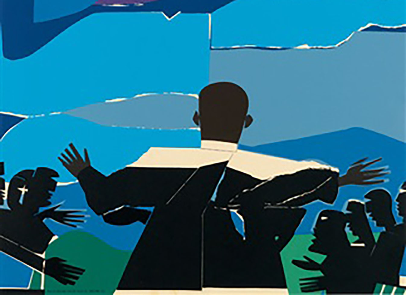 Martin Luther King Jr. - Mountain Top , 1968, by Romare Bearden