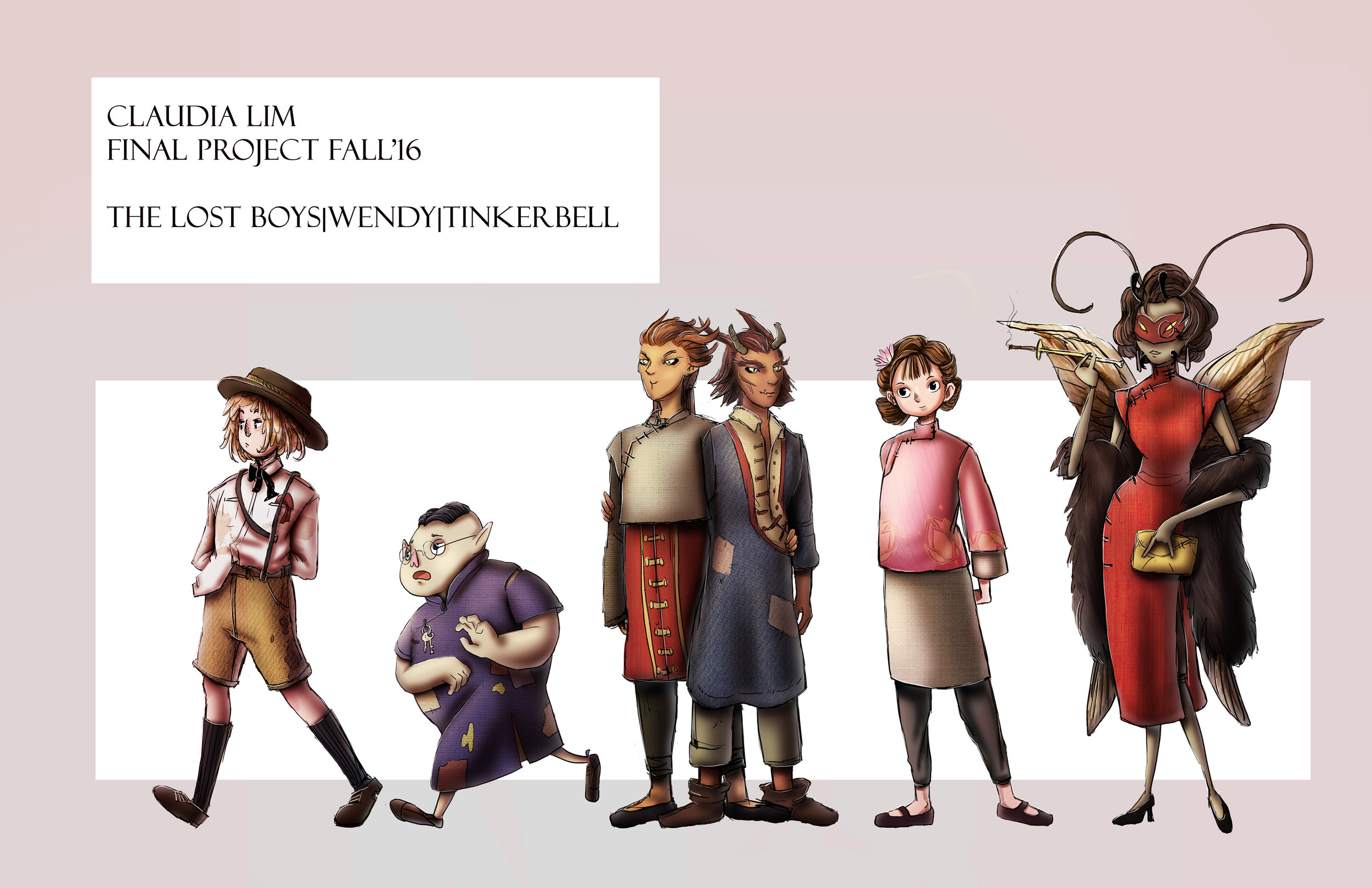 The Lost Boys & Wendy Character Concept Designs