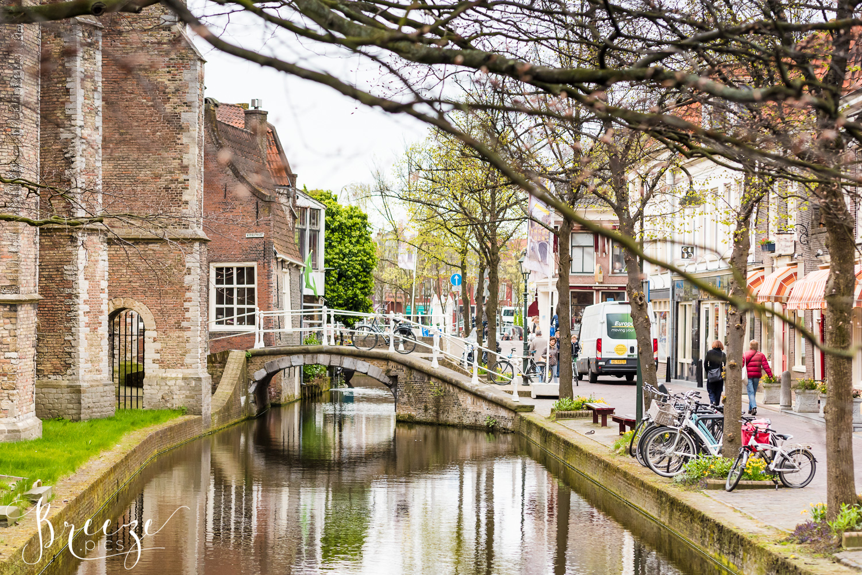 Delft street, The Netherlands, Travel Photograph, Bernadette Meyers,