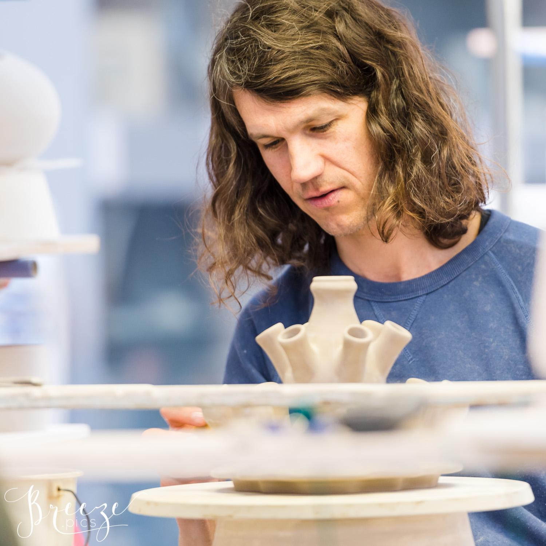 Dutch Painter, Delft Pottery Museum, The Netherlands, Travel Photograph, Breeze Pics