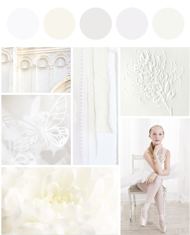 Create a perfect sanctuary, white mood board, breeze pics