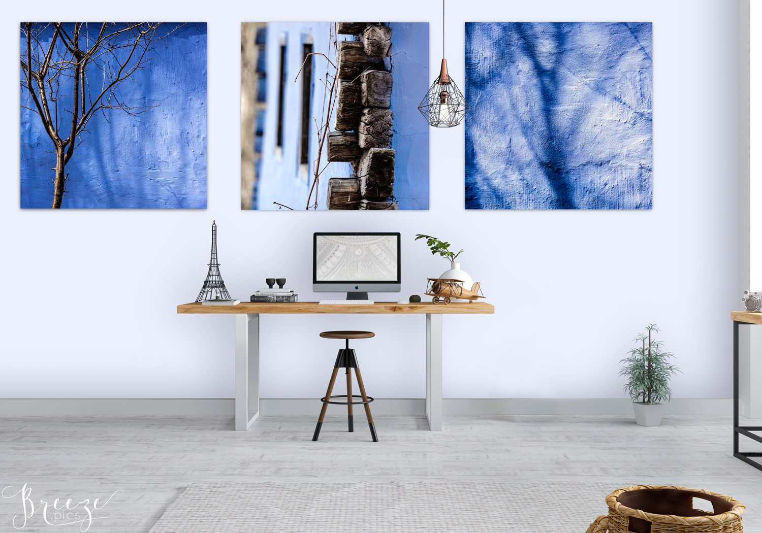 Blue fine art nature photograph, home decor prints, Breeze pics