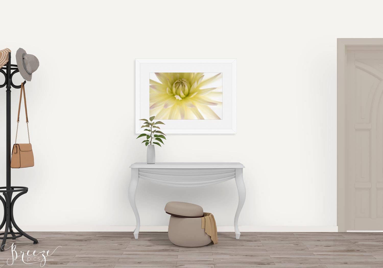 Yellow fine art nature photograph, home decor prints, Breeze pics