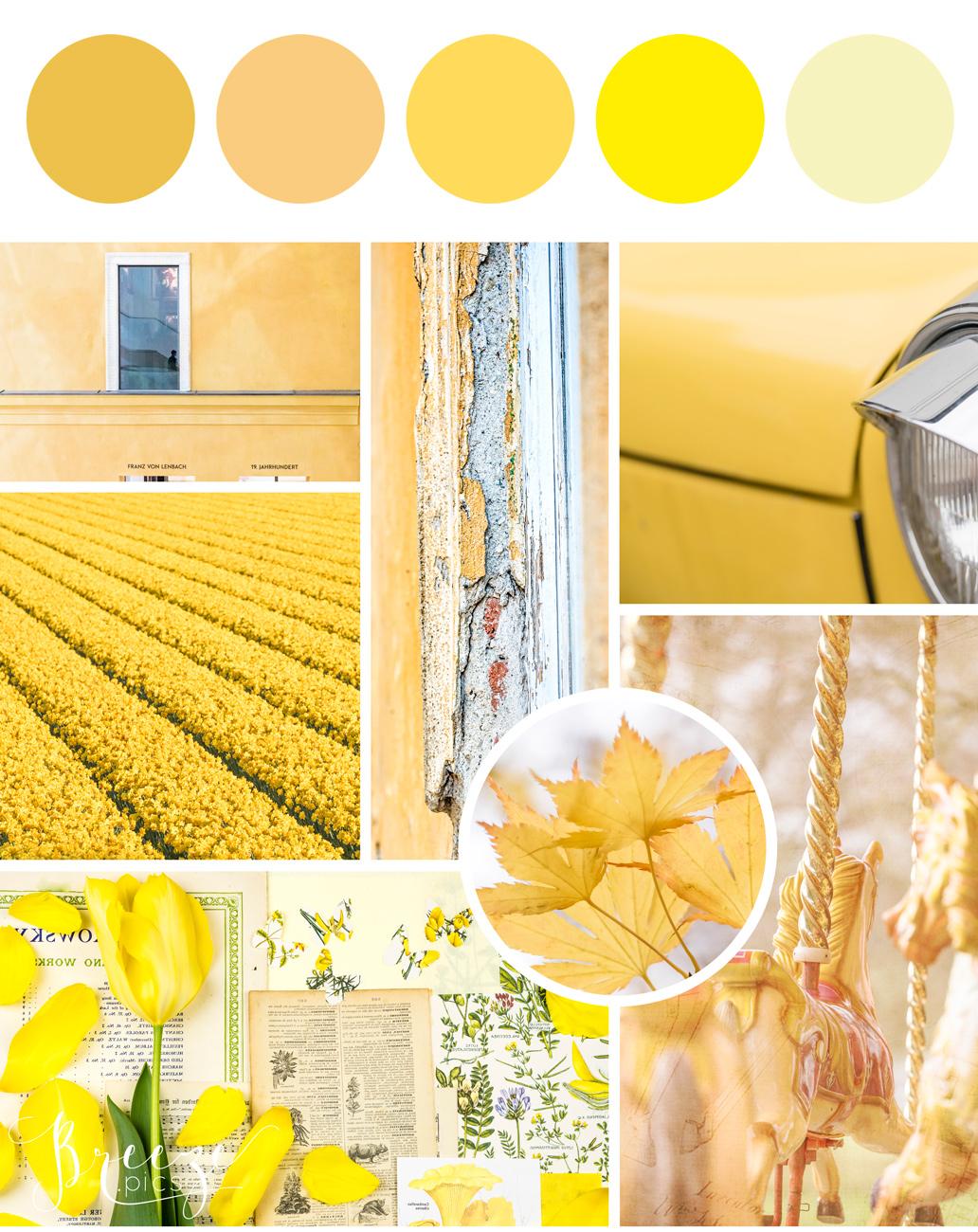 Yellow mood board, creating a sanctuary at home, Breeze Pics