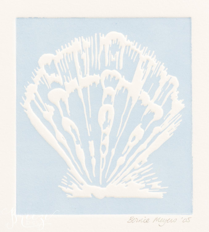 scallop limited edition relief print fine art home decor print, Breeze Pics