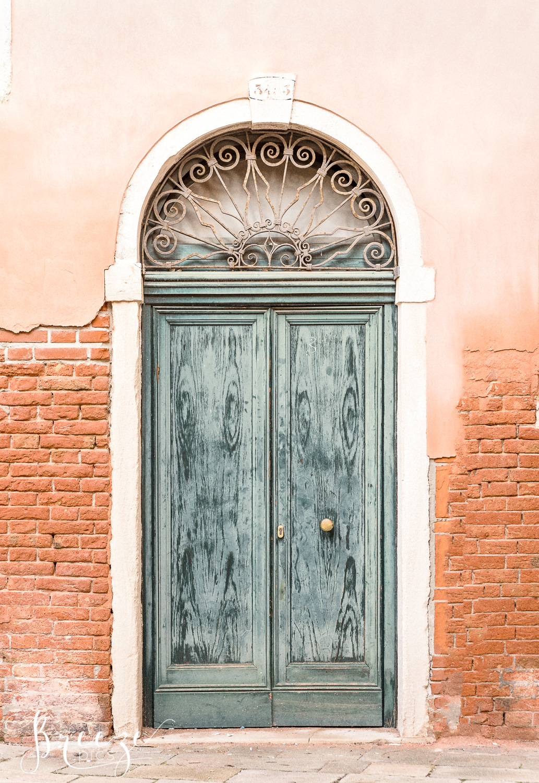 venice detail green door, limited edition fine art print, Bernadette Meyers