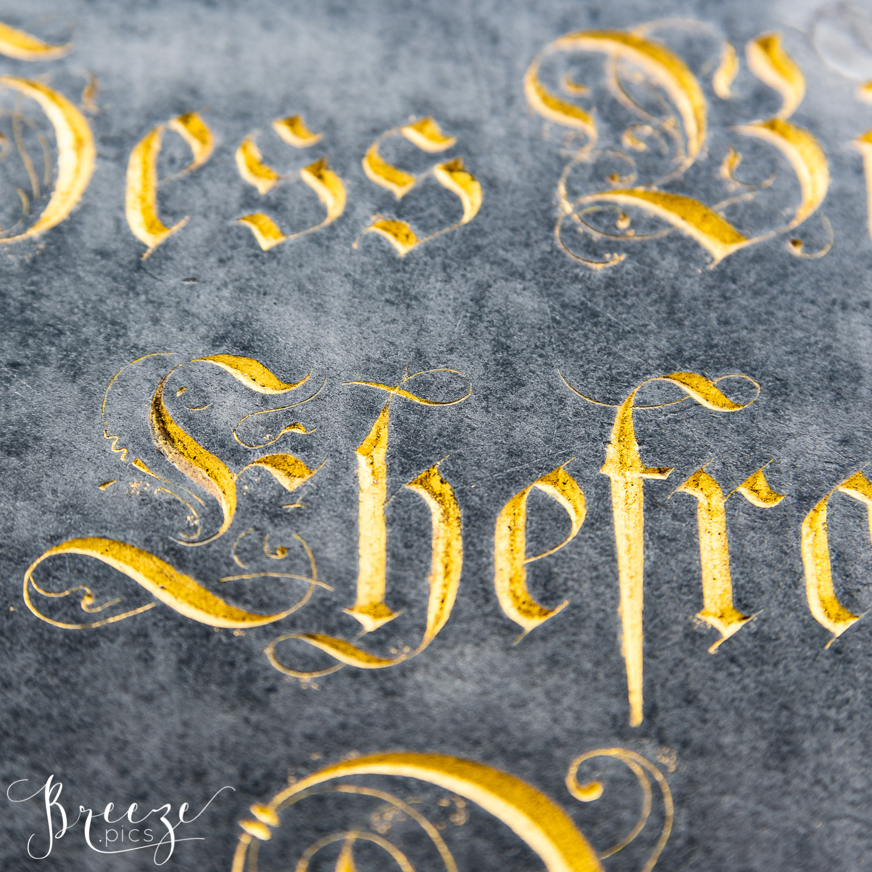 gold lettering munich limited edition fine art print, Bernadette Meyers