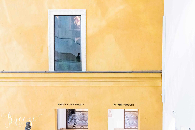 Munich art museum, limited edition fine art wall decor print, Bernadette Meyers