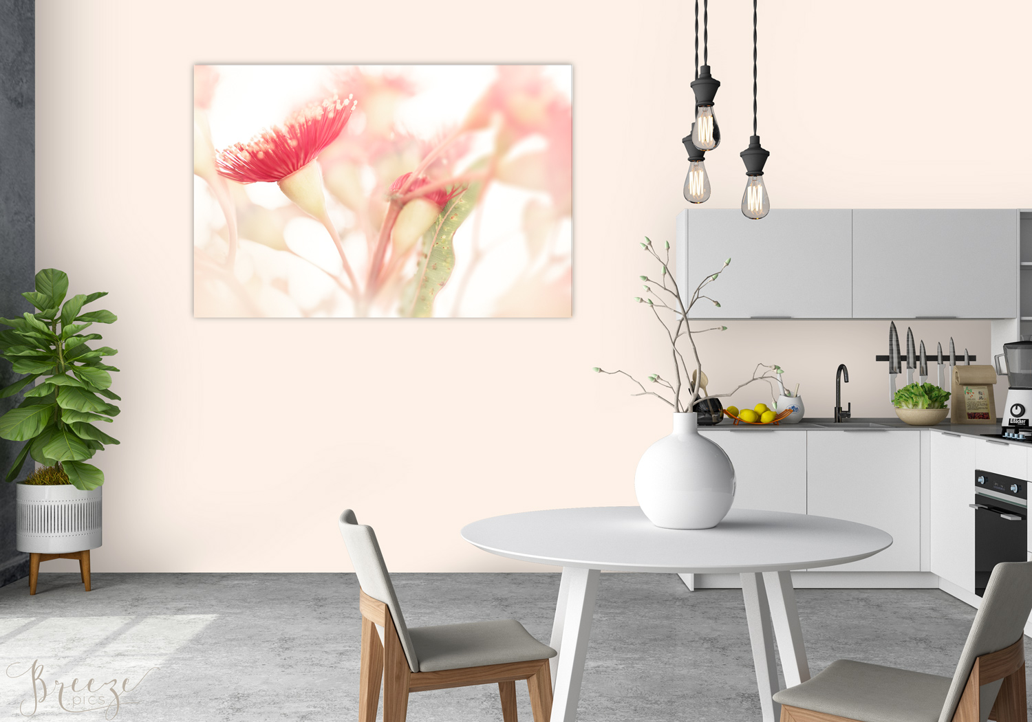 Eucalyptus Kitchen Mockup Limited Edition Fine Art Limited Edition Print, Breeze Pics