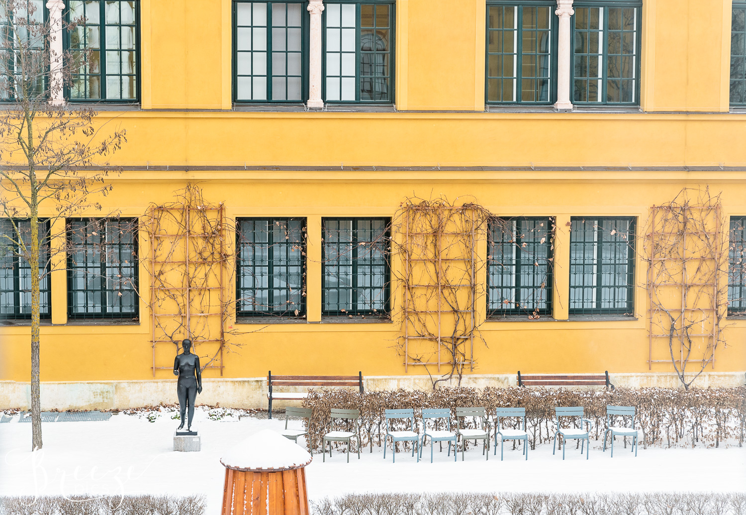 Munich in winter limited edition home decor photography, Bernadette Meyers
