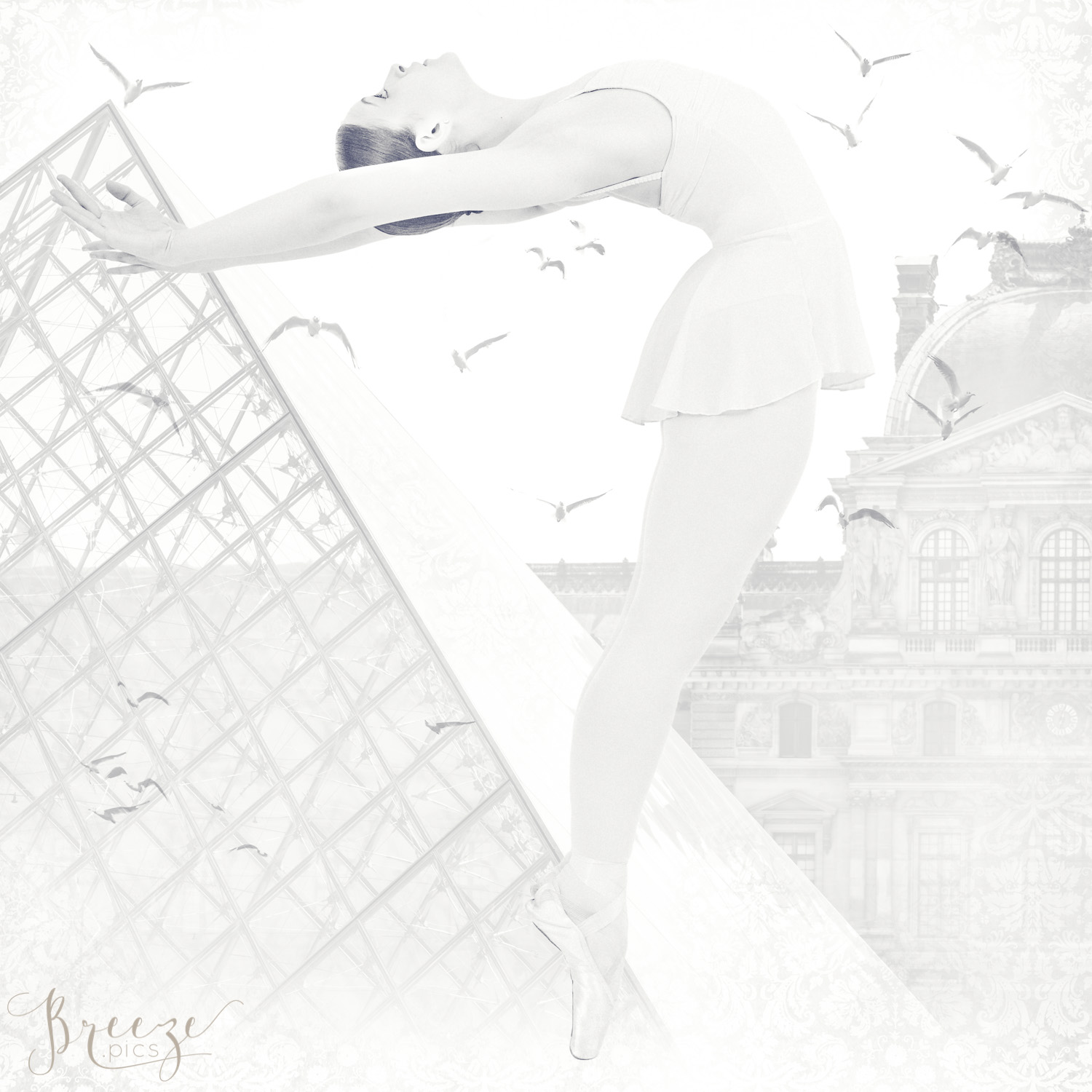 paris, ballet dancer, black and white, monochrome, limited edition fine art print, Breeze Pics