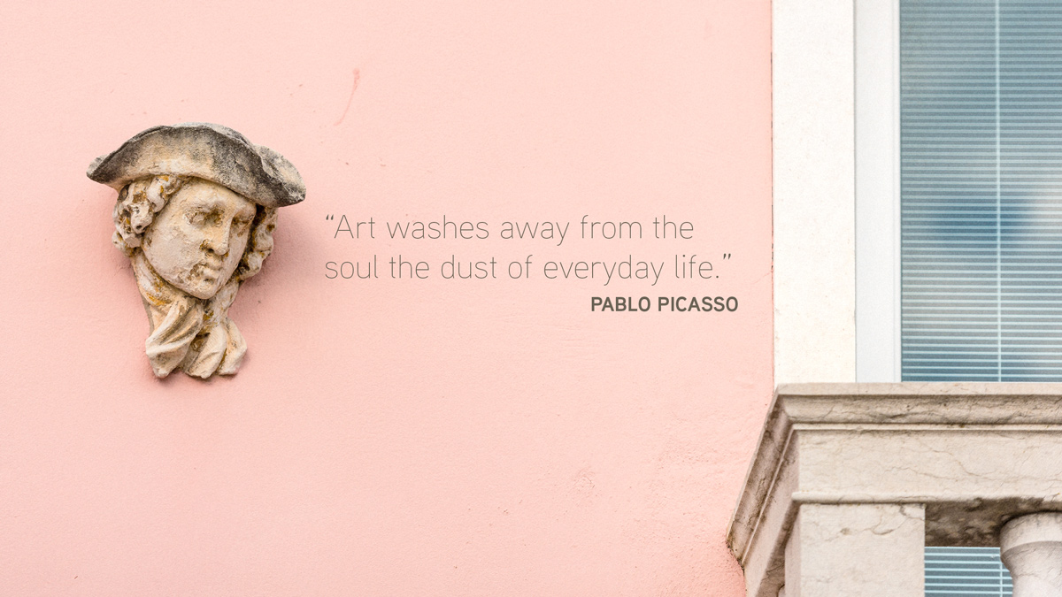 pablo picasso quote, limited edition fine art print, Breeze Pics