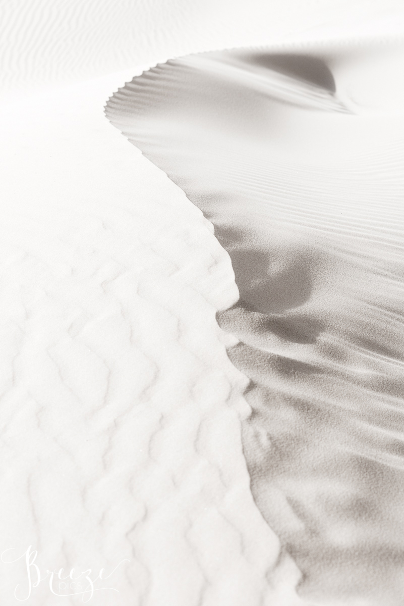 Windsong shadows on sand, limited edition fine art macro nature print, home decor, Bernadette Meyers