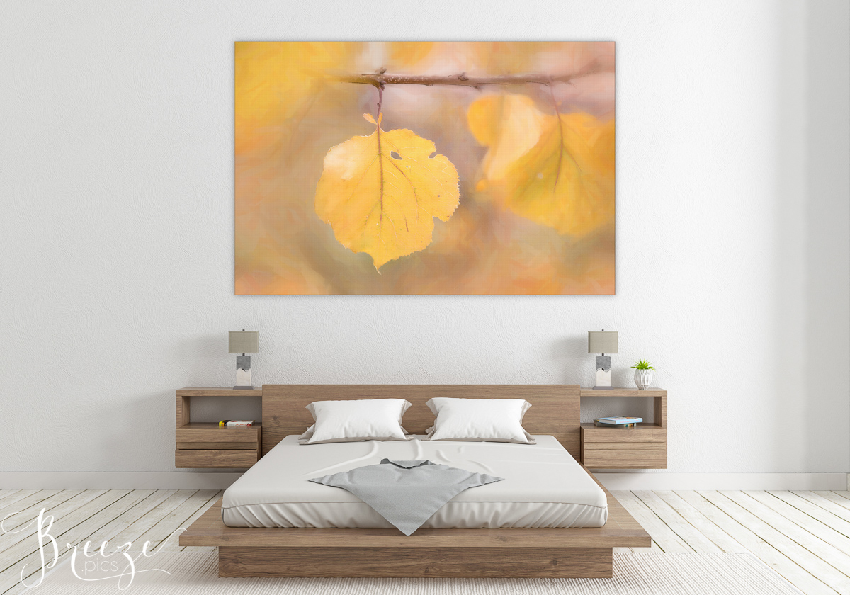 Autumn leaf mock up, limited edition fine art print, home wall art, Bernadette Meyers