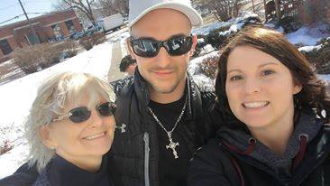 Vicki with her son and daughter.