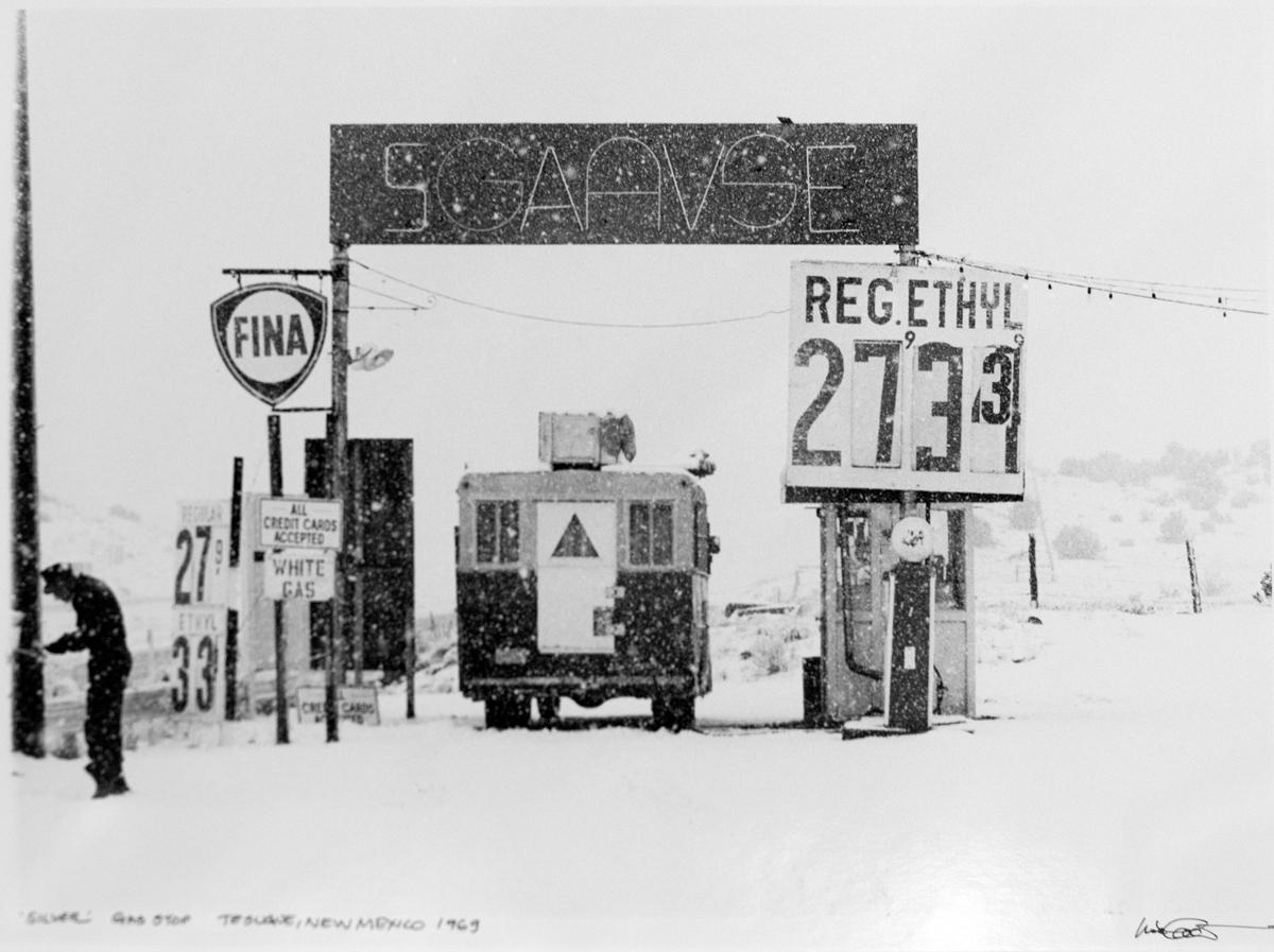 "LISA LAW | Silver Gas Stop Tesuque, New Mexico, 1969"" 16x20 Silver Gelatin Print"