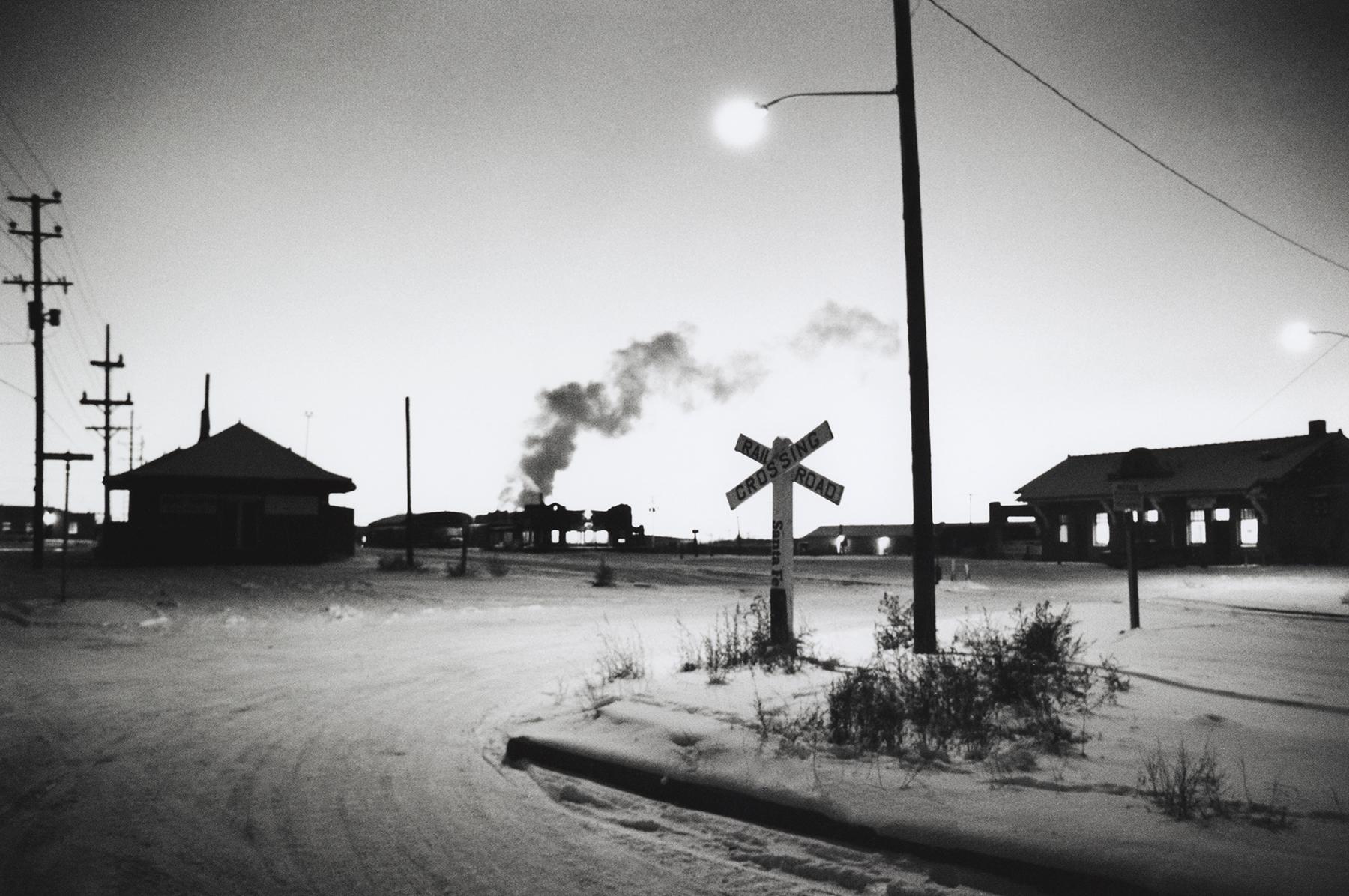 "DOUGLAS MAGNUS | Santa Fe Railyard, Sundown, Winter 1970"" 11x14 Archival Pigment Print"