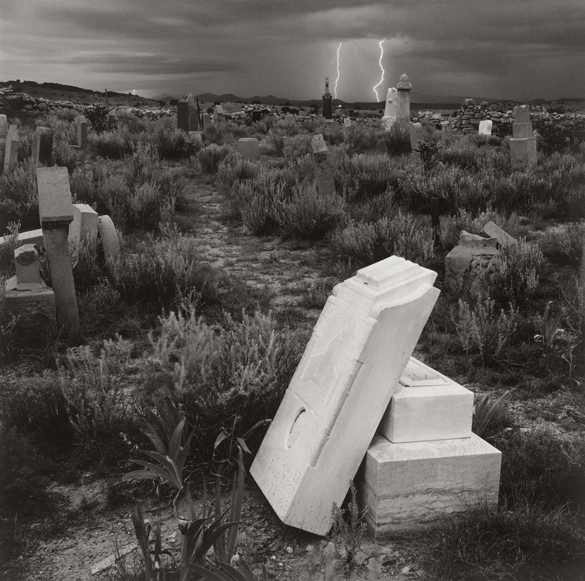 "RAY BELCHER | Path, Lightning"" Galisteo, 1983 12.5 x 12.5  Archival Pigment Print  #1 of 15 printed in 2017"