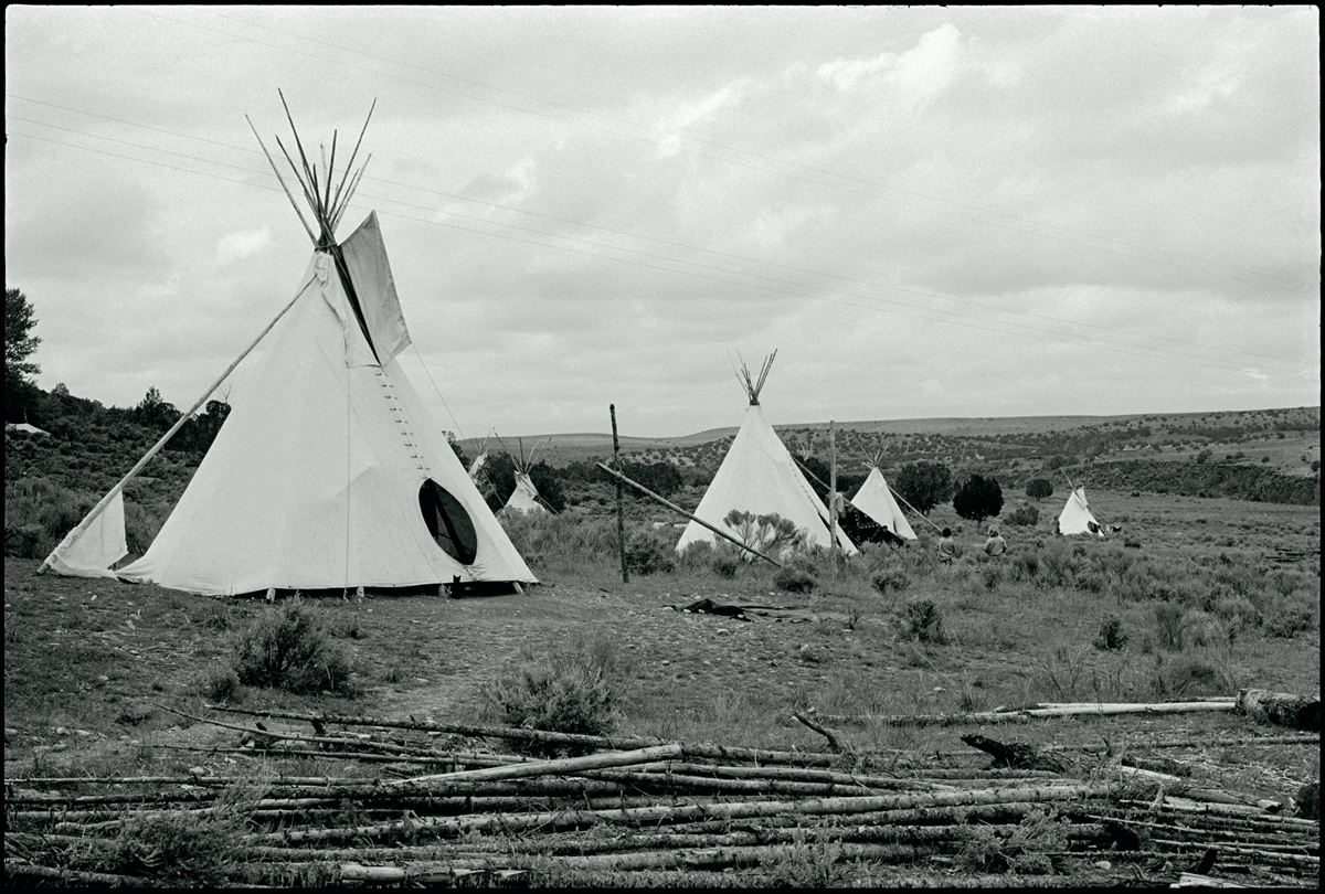 "LISA LAW | Tipis at New Buffalo Commune,"" Arroyo Hondo, New Mexico 1967"" 11x14  Silver Gelatin Print"