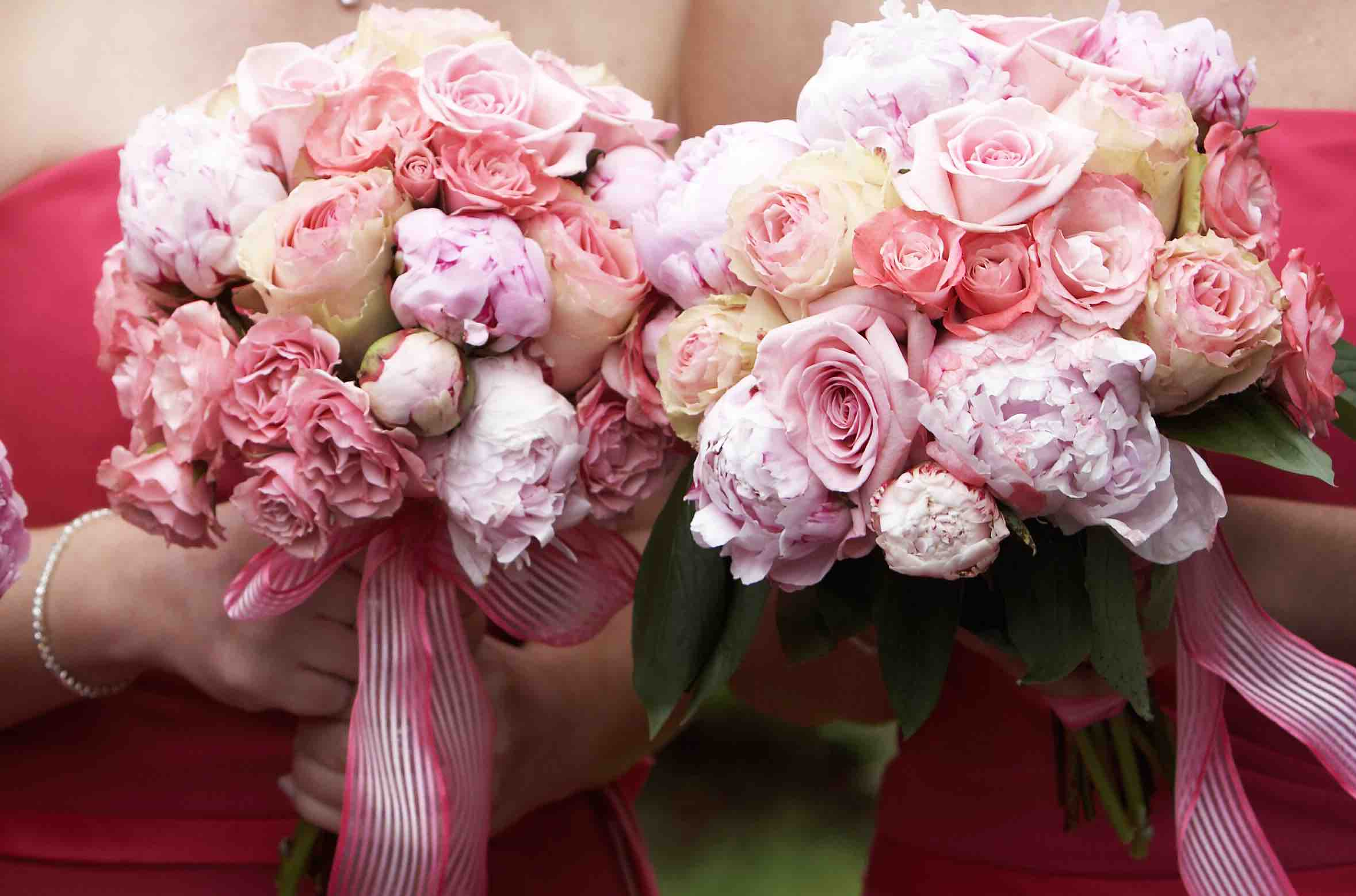 Pink bridesmaid and bouquet .jpg
