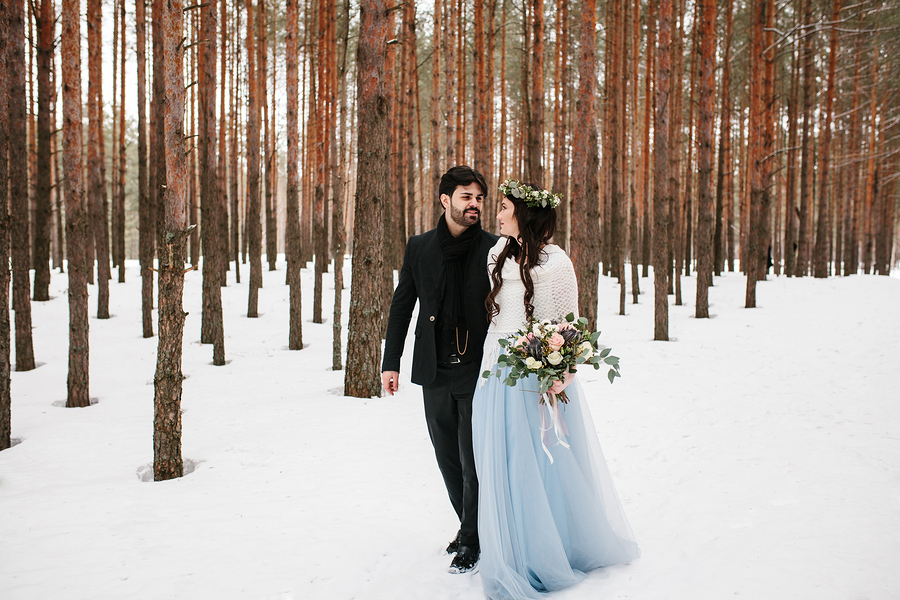 Winter weddings and warm wedding gowns.